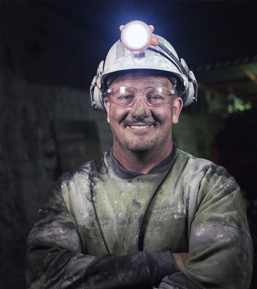 Bolter miner operator Jason Bray is one of only a handful of industry veterans at Ulan West.