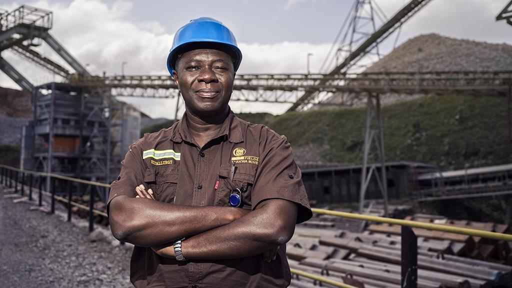 <p>Kierownik ds. metalurgii, Henry Mensah Atakora.</p>