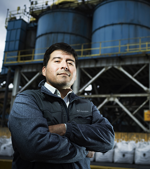 Hugo Olmos Vega, jefe de planificación de mantenimiento en la mina El Teniente de Codelco.