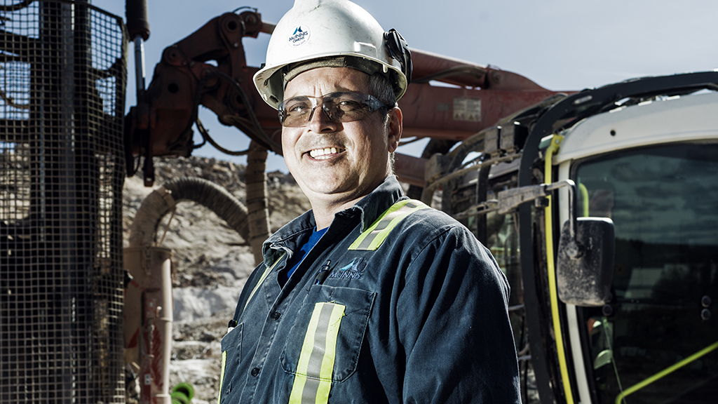 """In 20 years that's the best top hammer I ever drilled with,"" says operator Renaud Langlois of Ranger DX900i."