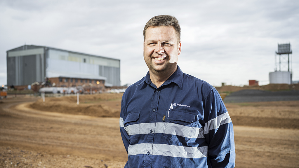 Frikkie Fourie, drill and blast specialist for Anglo American's coal business.