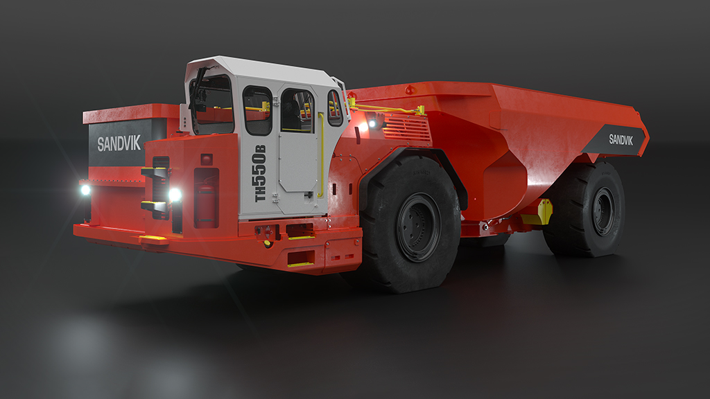 Sandvik TH550B has a modern, ergonomic low-noise cabin, improving safety and reducing operator fatigue.